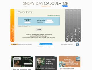 snowdaycalculator.com screenshot