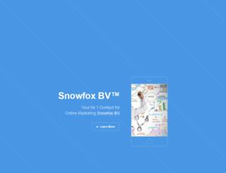 snowfoxbv.com screenshot