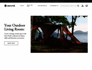 snowpeak.com screenshot