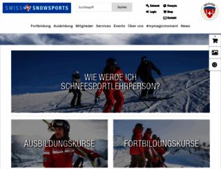 snowsports.ch screenshot