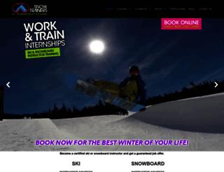 snowtrainers.com screenshot