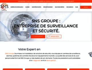 snsgroupe.fr screenshot