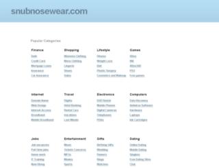 snubnosewear.com screenshot