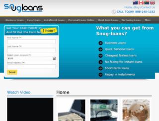 snug-loans.com screenshot