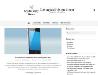 snyderdailynews.com screenshot