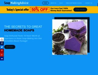 soapmakingadvice.com screenshot