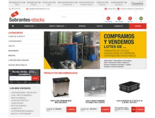 sobrantesdestocks.com screenshot