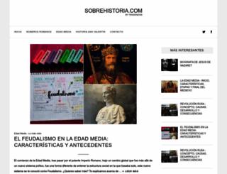 sobrehistoria.com screenshot