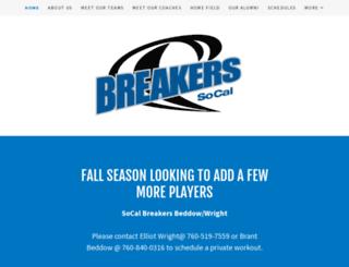 socalbreakers.com screenshot