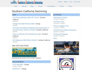 socalswim.org screenshot