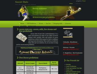 soccer-stats.org screenshot