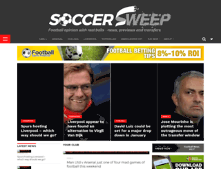 soccersweep.com screenshot