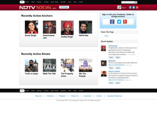 social.ndtv.com screenshot