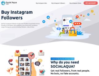 socialaqua.com screenshot