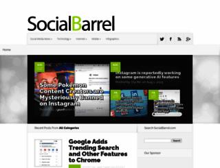 socialbarrel.com screenshot