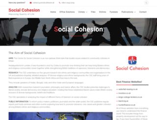 socialcohesion.co.uk screenshot