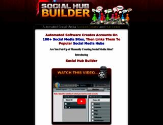 socialhubbuilder.com screenshot