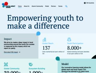 socialimpactaward.net screenshot