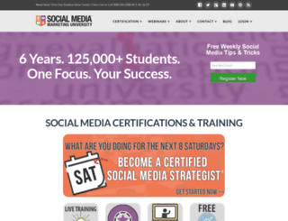 socialmediamarketinguniversity.com screenshot