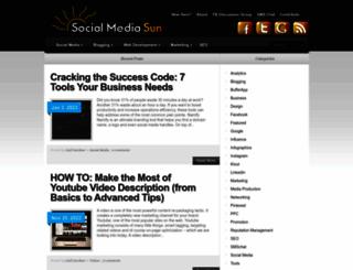 socialmediasun.com screenshot