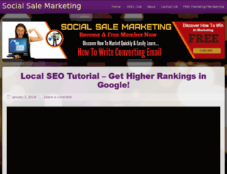 socialsalemarketing.com screenshot