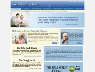 socialsecuritychoices.com screenshot