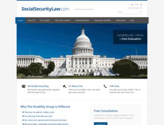 socialsecuritylaw.com screenshot