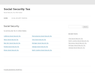 socialsecuritytax.org screenshot
