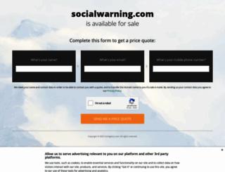 socialwarning.com screenshot