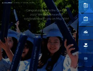 socialwork.columbia.edu screenshot
