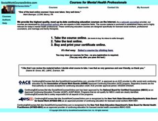socialworkcoursesonline.com screenshot