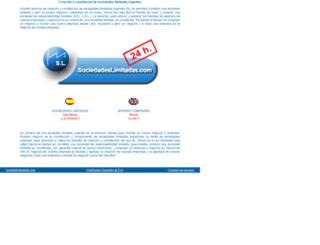 sociedadeslimitadas.com screenshot