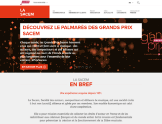 societe.sacem.fr screenshot