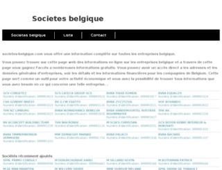 societes-belgique.com screenshot