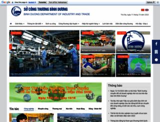 socongthuong.binhduong.gov.vn screenshot