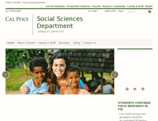 socsci-stage.calpoly.edu screenshot