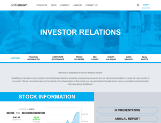 sodastream.investorroom.com screenshot