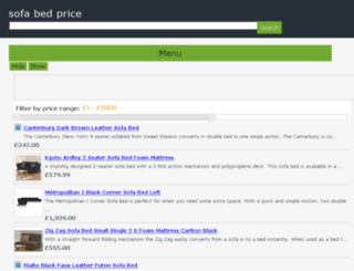 sofabedprice.co.uk screenshot