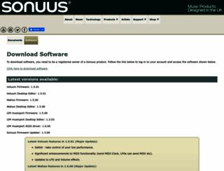 software.sonuus.com screenshot