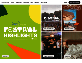 sohohouse.com screenshot