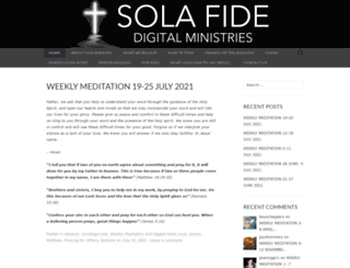 solafidedigitalministries.org screenshot