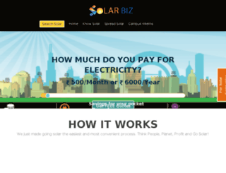 solarbiz.in screenshot
