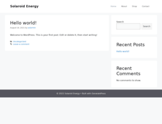 solaroidenergy.com screenshot