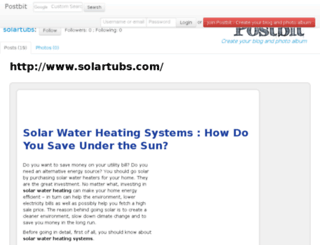 solartubs.postbit.com screenshot