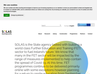 solas.ie screenshot