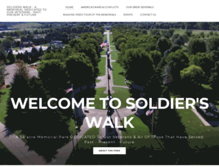 soldierswalkmemorialpark.com screenshot