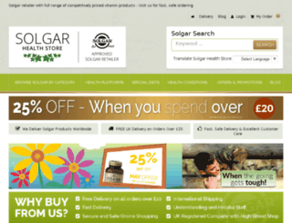 solgarhealthstore.com screenshot