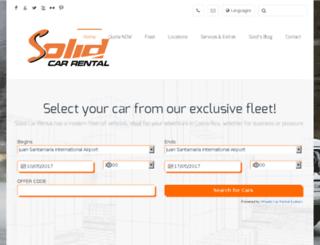 solidrentacar.com screenshot