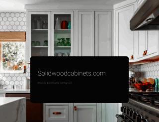 solidwoodcabinets.com screenshot