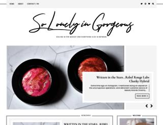 solonelyingorgeous.com screenshot